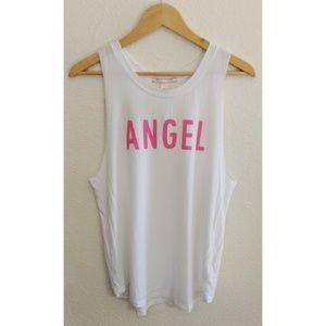 🛍 VS angel tank top white pink